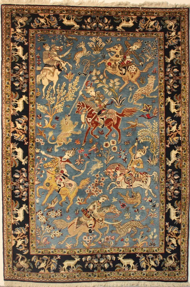 Antique tapis, Ghom,Iran